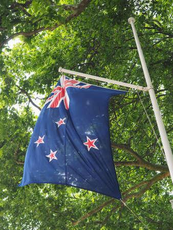 the New Zealand national flag of New Zealand, Oceania Reklamní fotografie