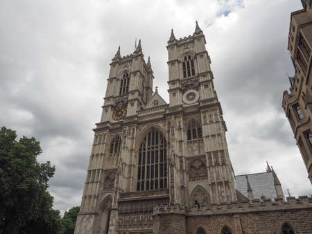 The Westminster Abbey anglican church in London, UK Banco de Imagens