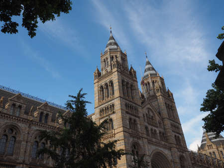 The Natural History Museum on Exhibition Road in South Kensington in London, UK