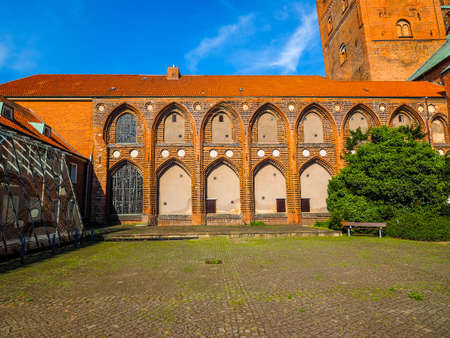 Luebecker Dom cathedral church in Luebeck, Germany, hdr