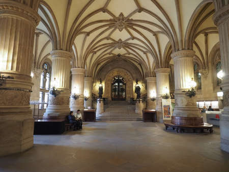 old town guildhall: HAMBURG, GERMANY - CIRCA MAY 2017: Hamburg Rathaus (city hall) in the Altstadt (old city) Editorial