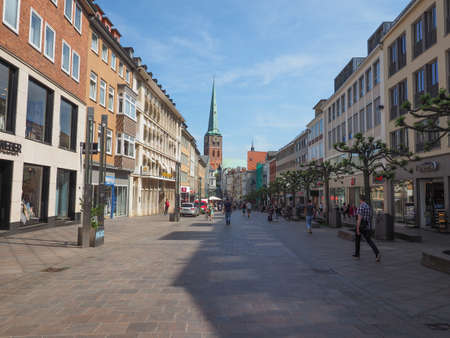 LUEBECK, GERMANY - CIRCA MAY 2017: View of the city of Lubeck