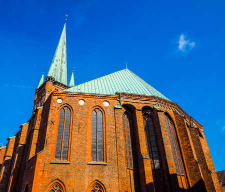 st german: St Petri (St Peter) church in Luebeck, Germany, hdr Stock Photo
