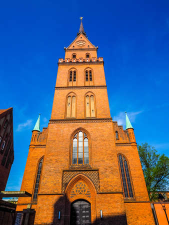 Propsteikirche Herz Jesu (Church of the Sacred Heart of Jesus) in Luebeck, Germany, hdr