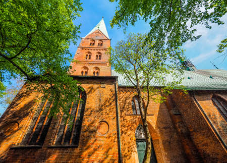 giles: St Aegidien (St Giles) church in Luebeck, Germany, hdr
