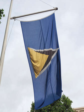 the Saint Lucian national flag of St Lucia, America