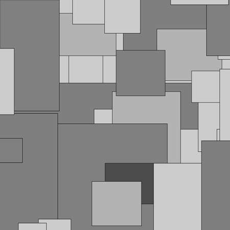 abstract random rectangles in shades of grey useful as a background