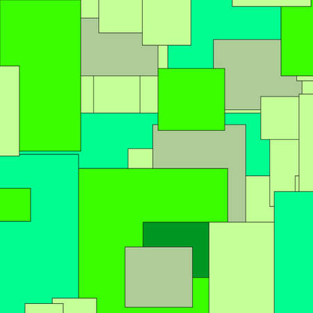 abstract random rectangles in shades of green useful as a background