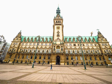 old town guildhall: HAMBURG, GERMANY - CIRCA MAY 2017: Hamburg Rathaus (city hall) in the Altstadt (old city), hdr Editorial