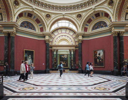 LONDON, UK - CIRCA JUNE 2017: The National Gallery in Trafalgar Square Stok Fotoğraf - 81526560