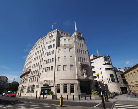 LONDON, UK - CIRCA JUNE 2017: BBC Broadcasting House headquarters of the British Broadcasting Corporation in Portland Place