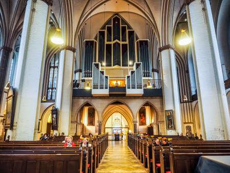 st german: HAMBURG, GERMANY - CIRCA MAY 2017: Hauptkirche St Petri (St Peter Church) aka Petrikirche, hdr
