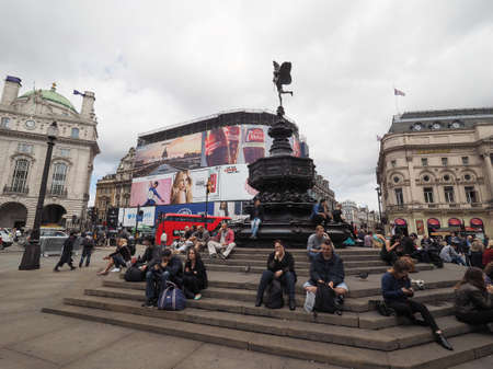 LONDON, UK - CIRCA JUNE 2017: People in Piccadilly Circus