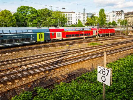 HAMBURG, GERMANY - CIRCA MAY 2017: Deutsche Bahn train, hdr Editorial