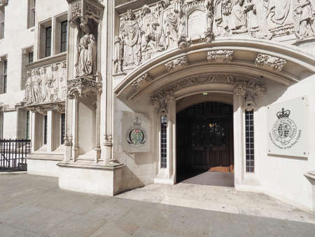 LONDON, UK - CIRCA JUNE 2017: The Supreme Court final court of appeal in Parliament Square