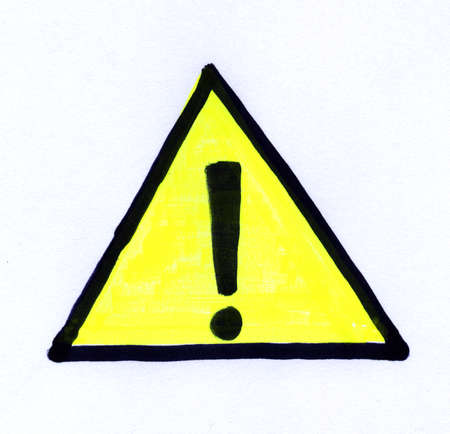 warning safety sign in black and yellow