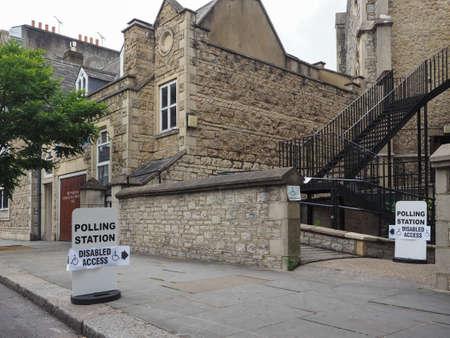 LONDON, UK - CIRCA JUNE 2017: A polling Station sign