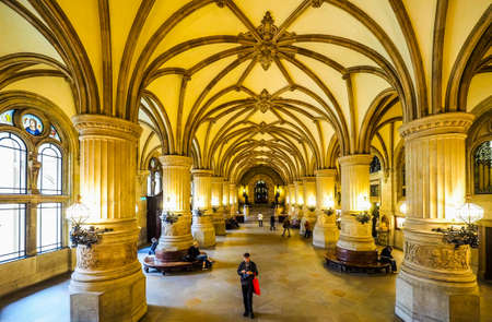 HAMBURG, GERMANY - CIRCA MAY 2017: Hamburg Rathaus (city hall) in the Altstadt (old city), hdr Editorial