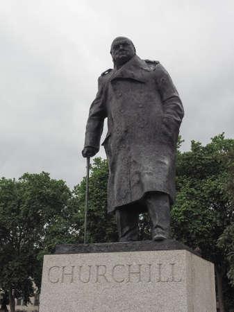 parliament square: LONDON, UK - CIRCA JUNE 2017: Winston Churchill monument in Parliament Square Editorial