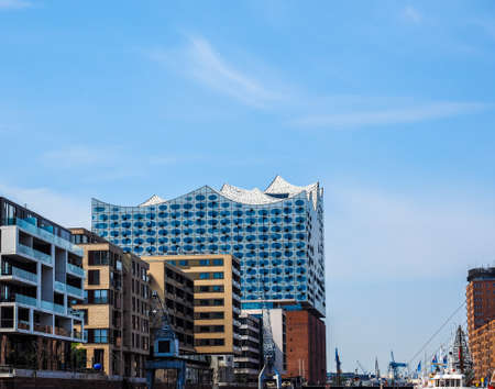 HAMBURG, GERMANY - CIRCA MAY 2017: Elbphilharmonie concert hall designed by Herzog and De Meuron, hdr