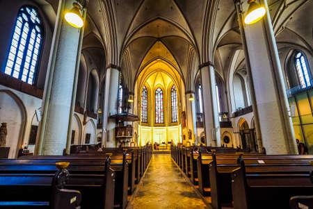 petri: HAMBURG, GERMANY - CIRCA MAY 2017: Hauptkirche St Petri (St Peter Church) aka Petrikirche, hdr