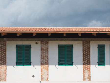 traditional ancient mediterranean architecture in Piedmont, Italy Banco de Imagens - 83942994