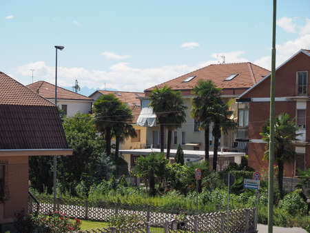 View of the city of Settimo Torinese, Italy