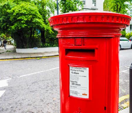 LONDON, UK - CIRCA JUNE 2017: red mailbox (high dynamic range) Editorial