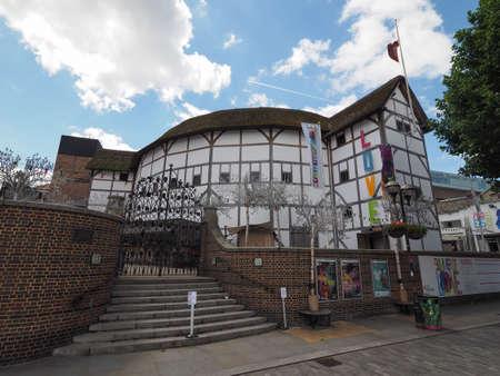 globe theatre: LONDON, UK - CIRCA JUNE 2017: The Shakespeare Globe Theatre