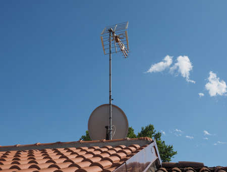 aerial antenna for digital terrestrial tv and satellite tv