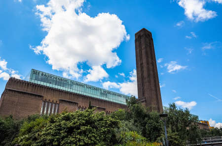 LONDON, UK - CIRCA JUNE 2017: Tate Modern art gallery in South Bank power station (high dynamic range)