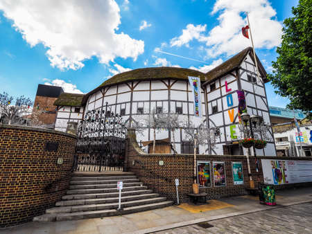 globe theatre: LONDON, UK - CIRCA JUNE 2017: The Shakespeare Globe Theatre (high dynamic range)