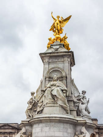 LONDON, UK - CIRCA JUNE 2017: The Queen Victorial memorial in front of Buckingham Palace (high dynamic range) Editorial