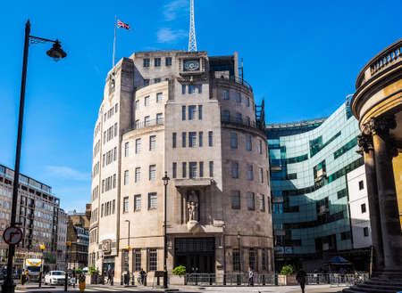 LONDON, UK - CIRCA JUNE 2017: BBC Broadcasting House headquarters of the British Broadcasting Corporation in Portland Place (high dynamic range)