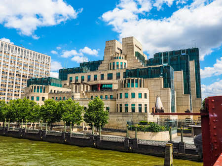 LONDON, UK - CIRCA JUNE 2017: SIS MI6 headquarters of British Secret Intelligence Service at Vauxhall Cross London (high dynamic range) Editorial