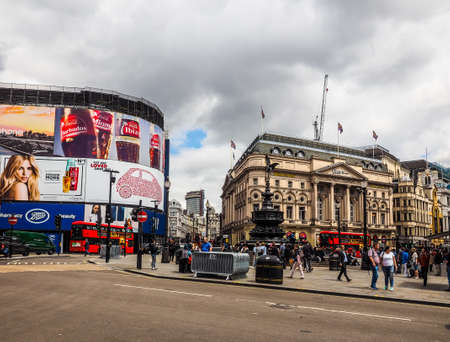 LONDON, UK - CIRCA JUNE 2017: People in Piccadilly Circus (high dynamic range)