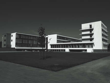 DESSAU, GERMANY - CIRCA AUGUST 2009: The Bauhaus art school iconic building designed by architect Walter Gropius in 1925