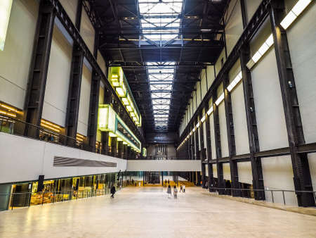 LONDON, UK - CIRCA JUNE 2017: Turbine Hall at Tate Modern art gallery in South Bank power station, high dynamic range