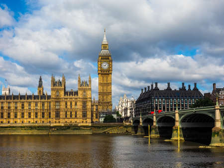 LONDON, UK - CIRCA JUNE 2017: Houses of Parliament aka Westminster Palace, high dynamic range Editorial