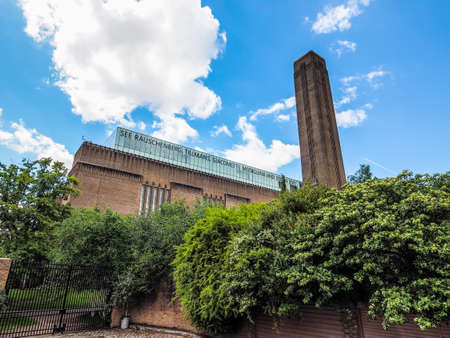 LONDON, UK - CIRCA JUNE 2017: Tate Modern art gallery in South Bank power station, high dynamic range