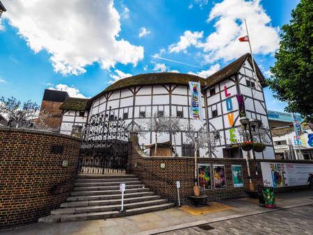 globe theatre: LONDON, UK - CIRCA JUNE 2017: The Shakespeare Globe Theatre, high dynamic range Editorial