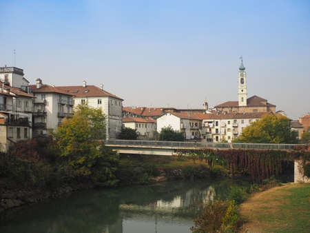 View of the city of Venaria, Italy seen from River Ceronda