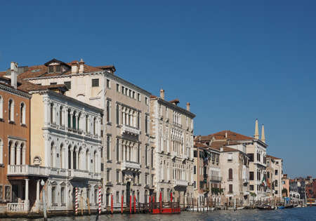 The Canal Grande (meaning Grand Canal) in Venice, Italy Editorial