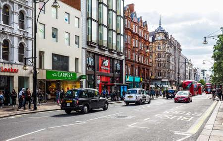 LONDON, UK - CIRCA JUNE 2017: People in Oxford Street (high dynamic range)