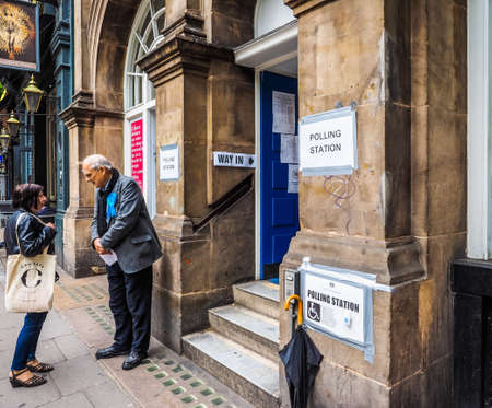 LONDON, UK - CIRCA JUNE 2017: Polling Station in Westminster, high dynamic range Editorial