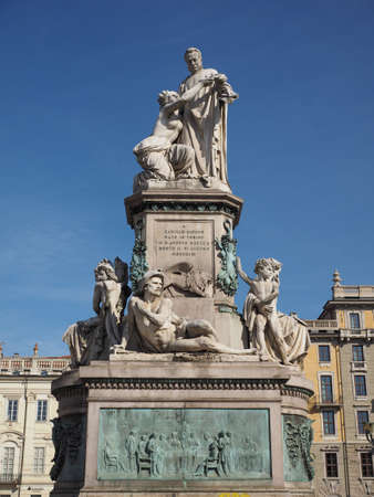 TURIN, ITALY - CIRCA AUGUST 2017: Memorial to Camillo Benso, Count of Cavour (aka Count Cavour)