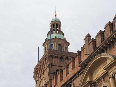 BOLOGNA, ITALY - CIRCA SEPTEMBER 2017: D Accursio Palace city Hall 에디토리얼