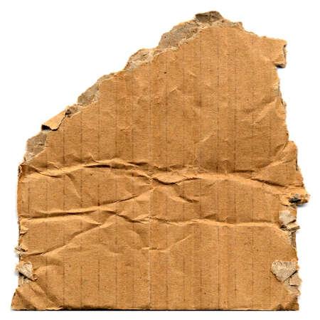 brown corrugated cardboard sample useful as a background Stok Fotoğraf