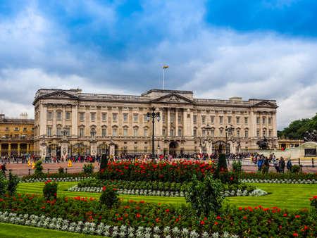 LONDON, UK - CIRCA JUNE 2017: Buckingham Palace royal palace, high dynamic range Editorial