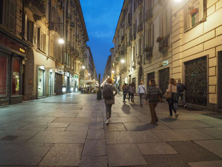 TURIN, ITALY - CIRCA SEPTEMBER 2017: Nightlife in the city centre